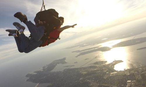 skydiving altitude